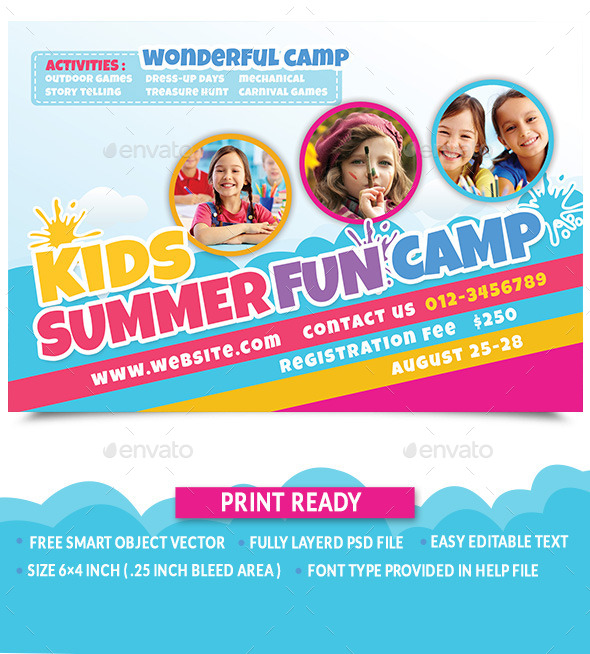 GraphicRiver Kids Summer Fun Camp 11414813