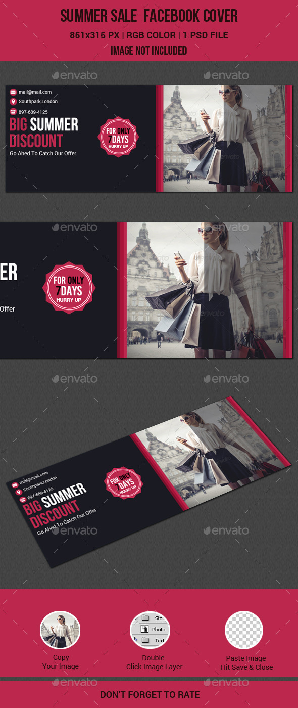 GraphicRiver Summer Sale Facebook Cover 11415073