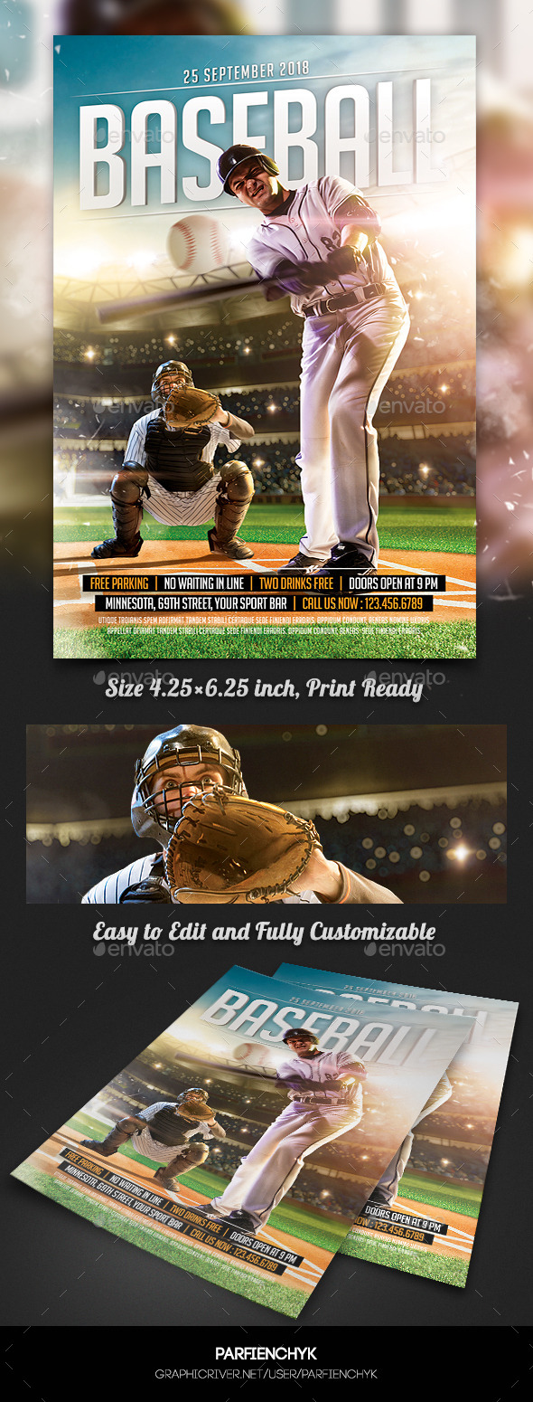 GraphicRiver Baseball Game Flyer Template 11415077