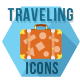 Traveling and Tourism Flat Hexagonal Icons Set - GraphicRiver Item for Sale