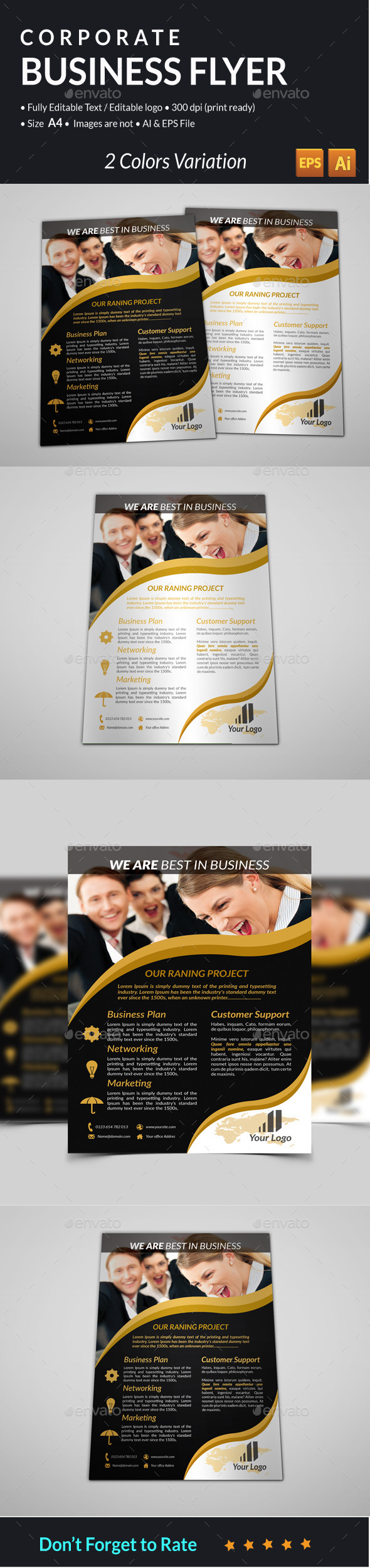 GraphicRiver Corporate Business Flyer 11415229