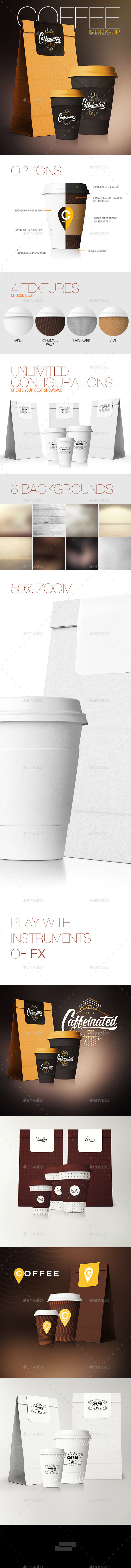 GraphicRiver Coffee Cup Coffee Package Mock-Up 11415496