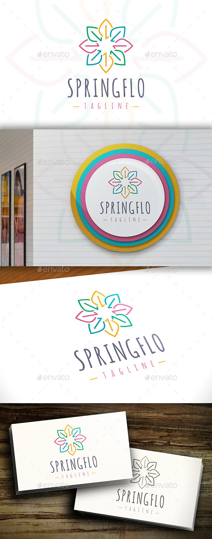 GraphicRiver Spring Flower Logo 11415682