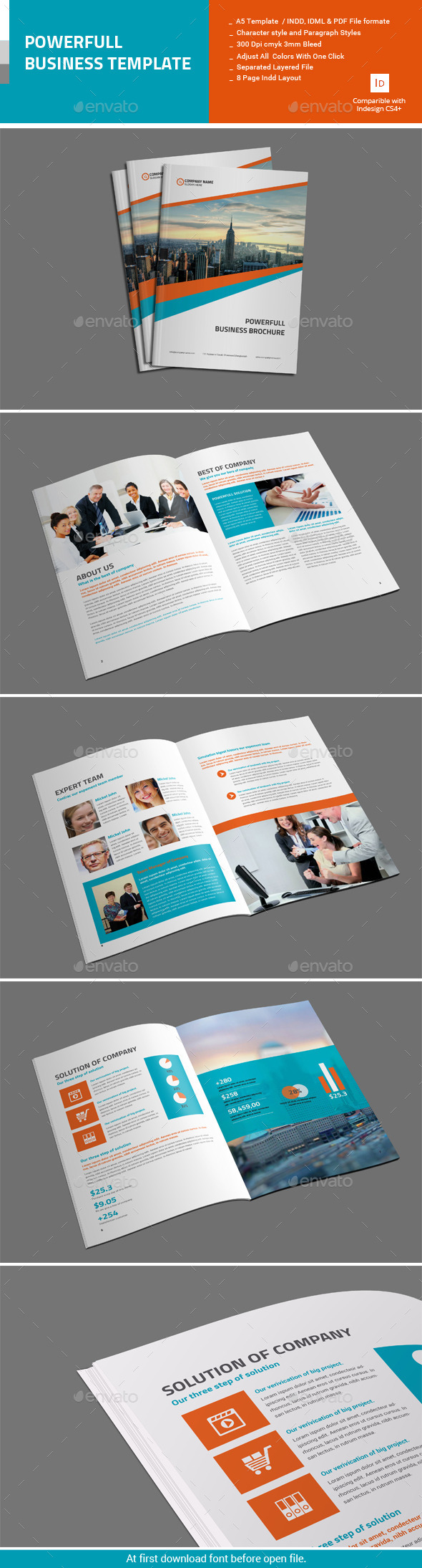 GraphicRiver Powerfull Business Brochure 11415864