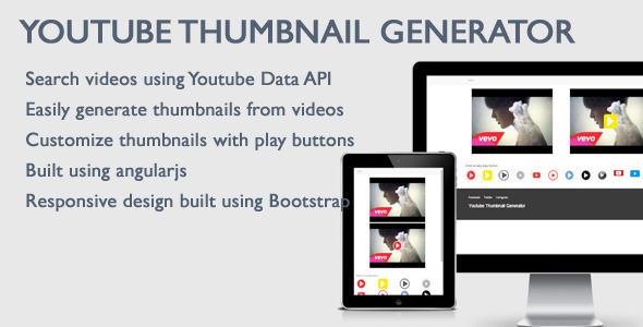 CodeCanyon Youtube Video Thumbnail Generator 11415958