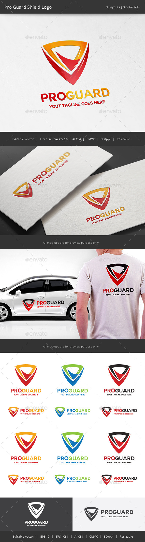 GraphicRiver Pro Guard Shield Logo 11415962