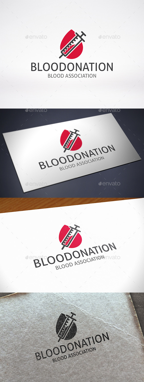 GraphicRiver Blood Donation Logo Template 11416371