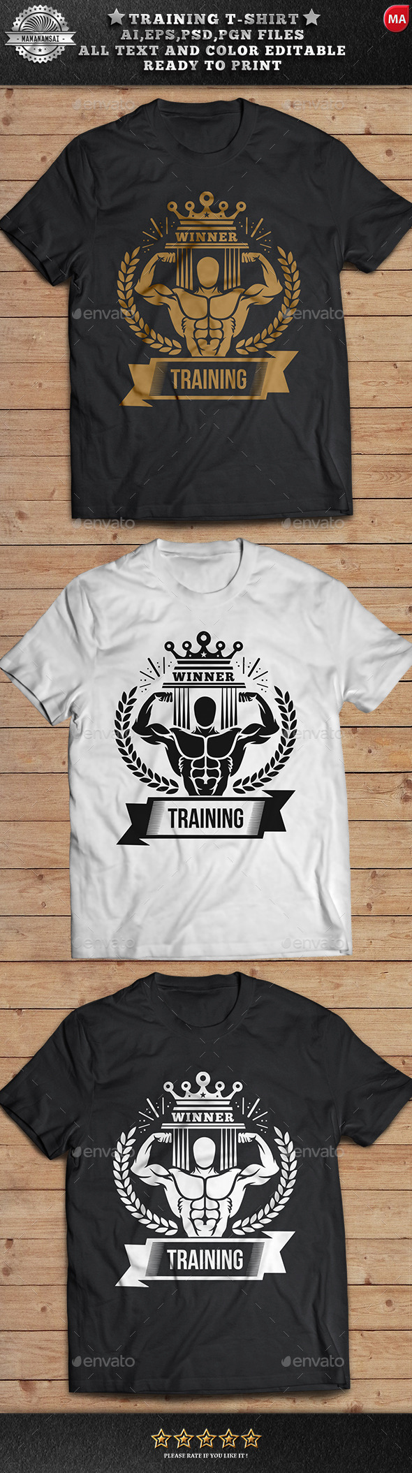 GraphicRiver Training T-Shirt Design 11416372