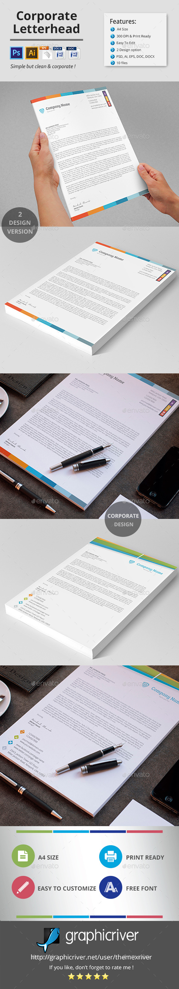 GraphicRiver Corporate Letterhead 11416459