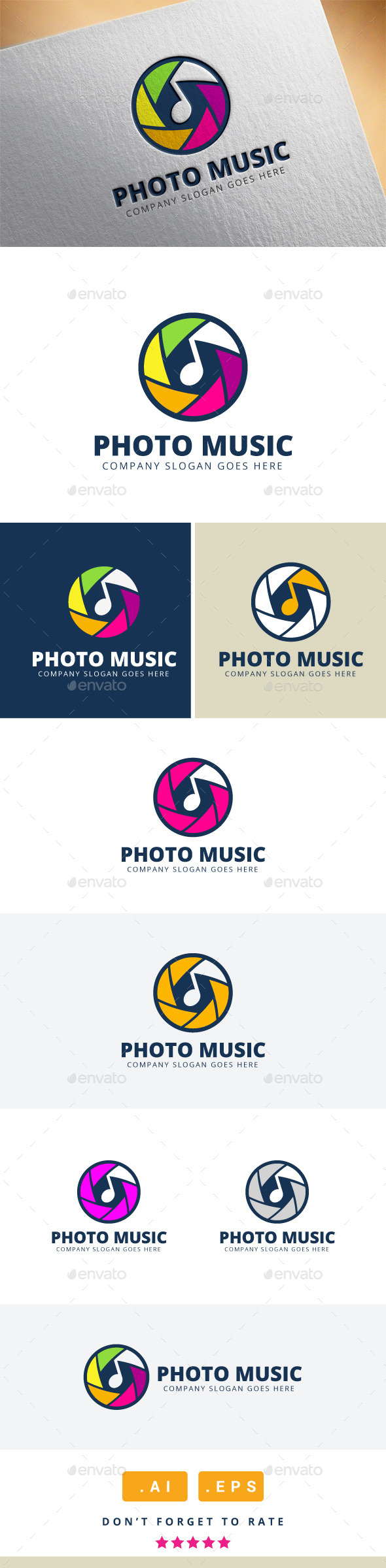 GraphicRiver Photo Music Logo 11416493