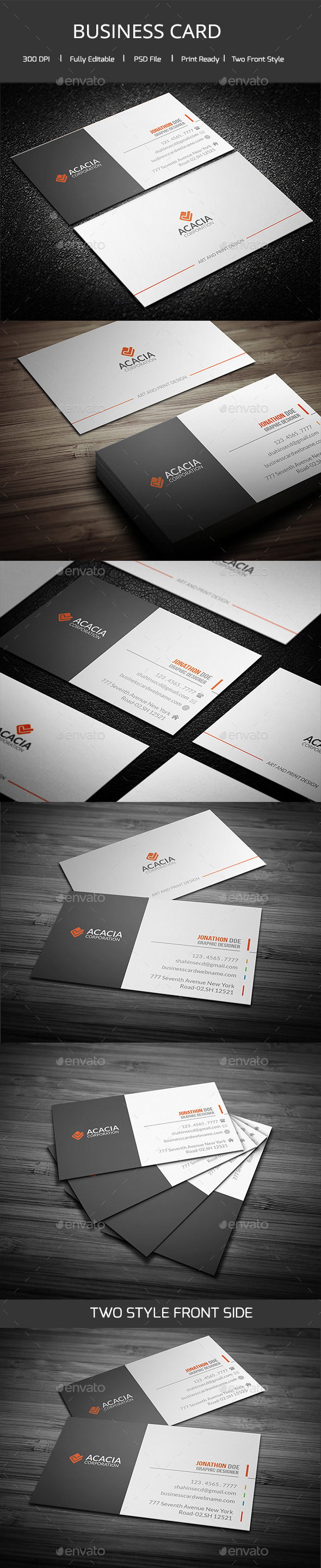 GraphicRiver ACACIA Simple Business Card 11416597
