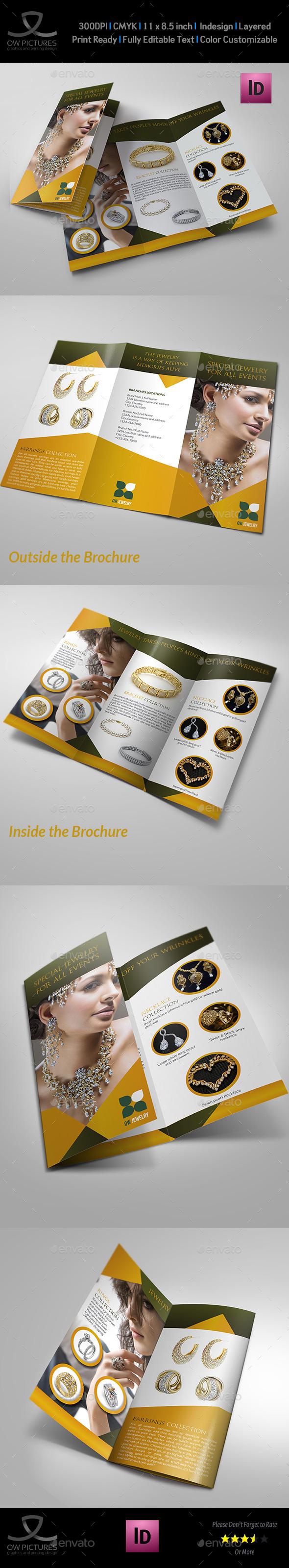 GraphicRiver Jewelry and Accessories Tri Fold Catalog Brochure 11416745
