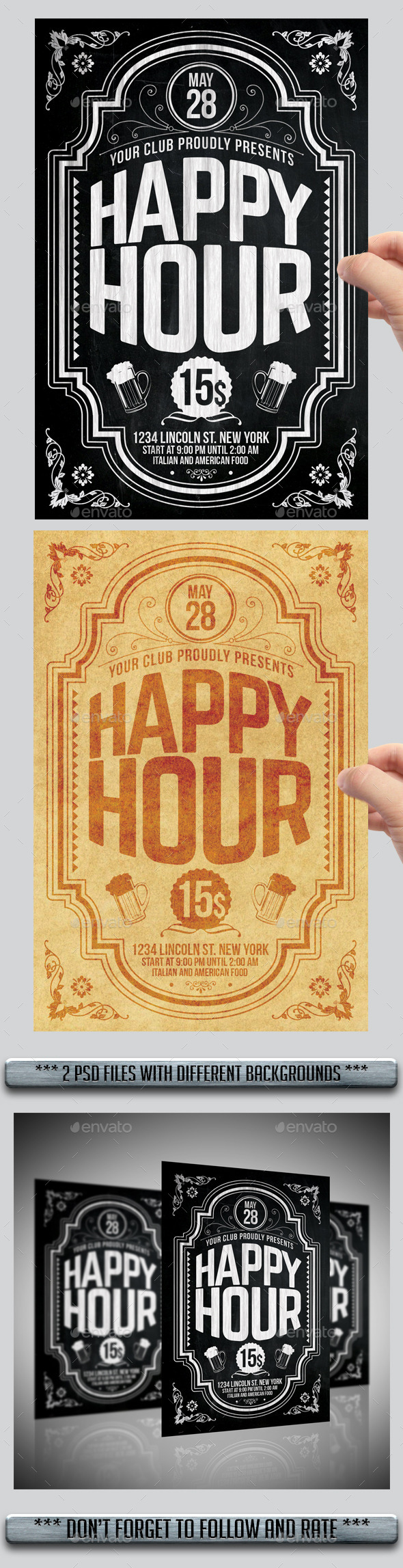 GraphicRiver Happy Hour Flyer 11416758