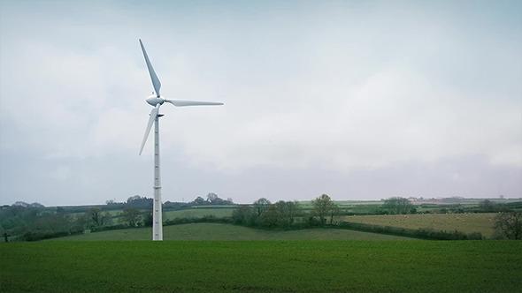 Wind Turbine In The Countryside