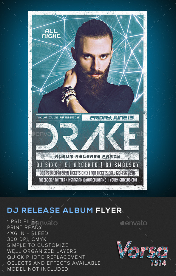 GraphicRiver DJ Release Album Flyer 11417008