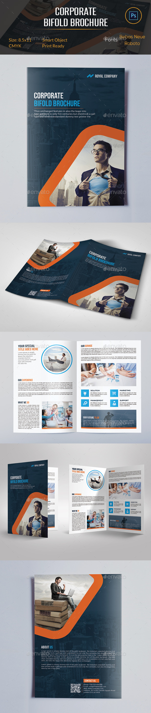 GraphicRiver Corporate Bifold Brochure 11417245