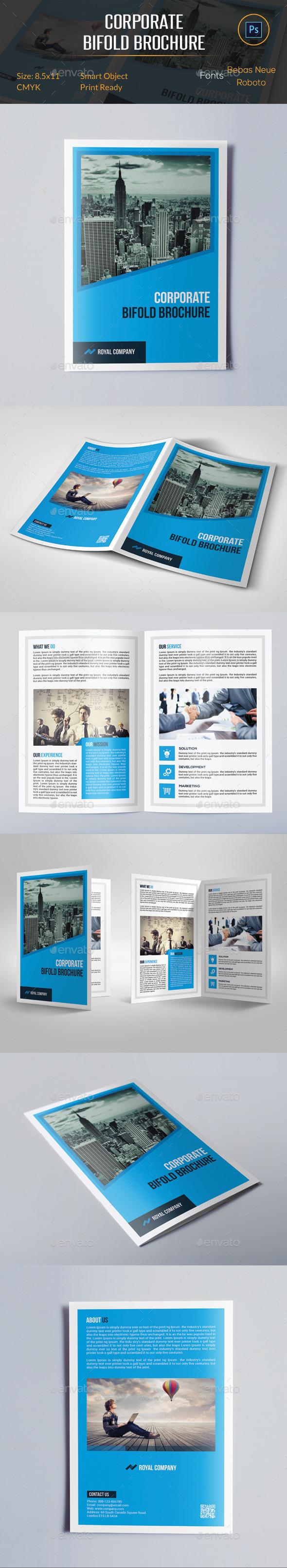 GraphicRiver Corporate Bifold Brochure 11417270