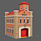 Low Poly Fire Station - 3DOcean Item for Sale
