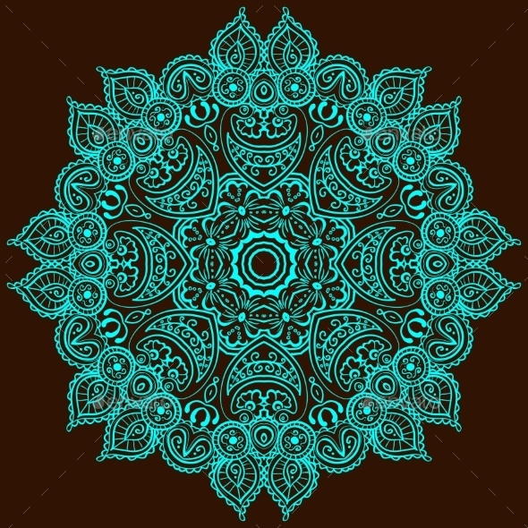 GraphicRiver Vintage Circular Pattern Of Indian 11417986