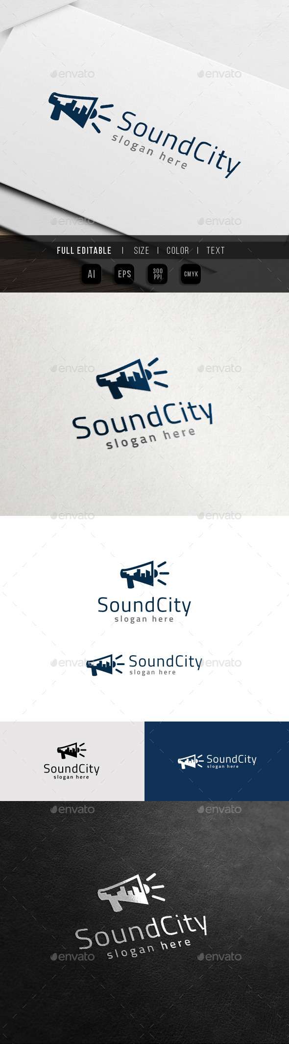 GraphicRiver City Sound Multimedia Production Logo 11418200