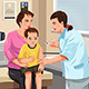 Pediatrician Giving a Shot to a Little Child - GraphicRiver Item for Sale