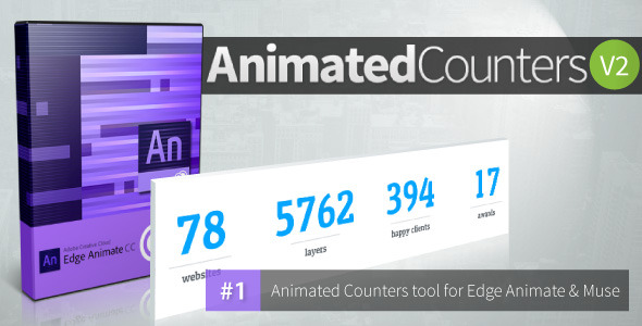 CodeCanyon Animated Counters V 2.0 Edge Animate Collection 11418475