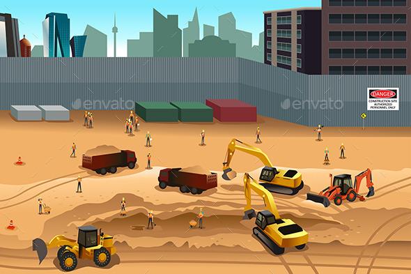 GraphicRiver Scene in a Construction Site 11418857