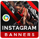 Health & Fitness Instagram Templates - 10 Designs - GraphicRiver Item for Sale