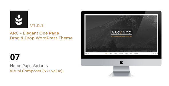 ARC - Elegant Creative One Page WordPress Theme