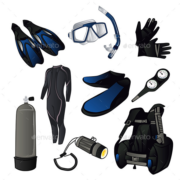 GraphicRiver Scuba Diving Icons 11418864
