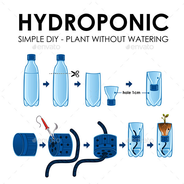 GraphicRiver Diagram of a Hydroponics Setup 11418871