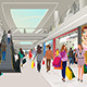People Shopping in a Mall - GraphicRiver Item for Sale