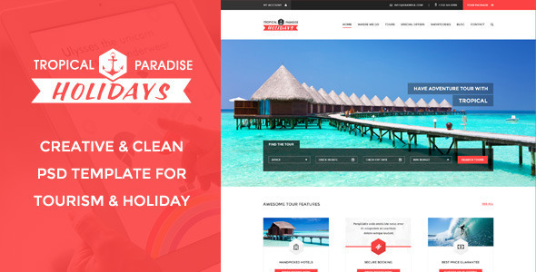 ThemeForest Tropical Travel HTML 11418948
