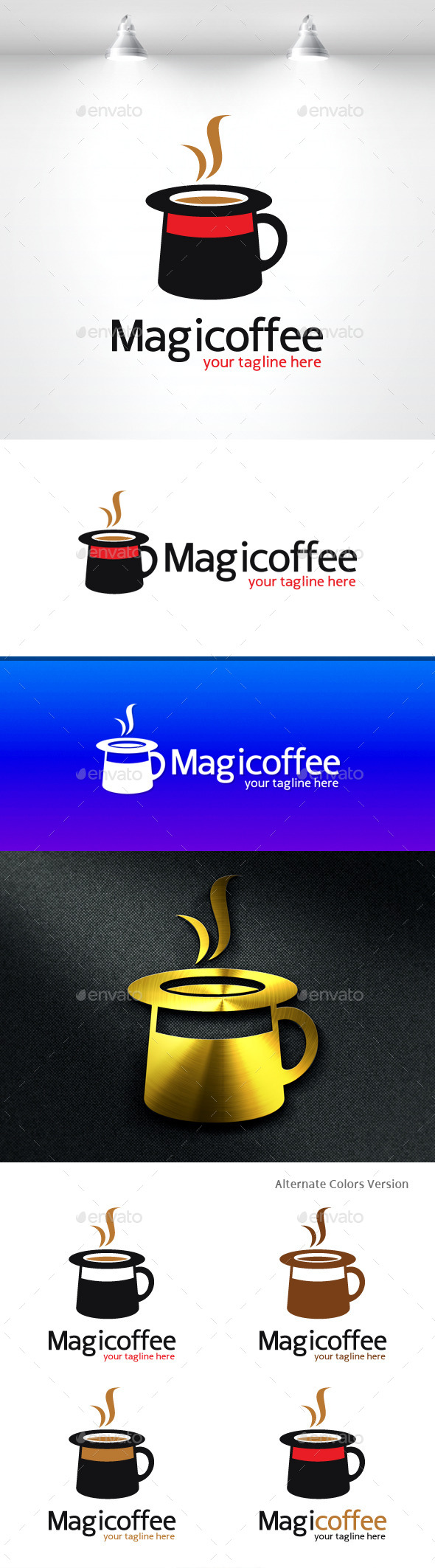 GraphicRiver Magic Coffee Logo 11419082