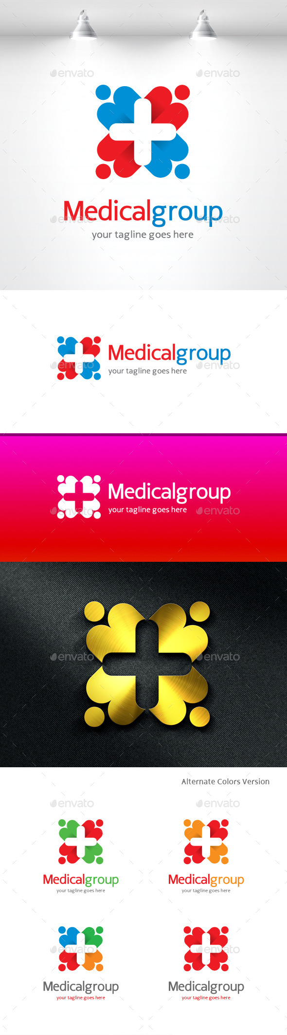 GraphicRiver Medical Group Logo 11419095