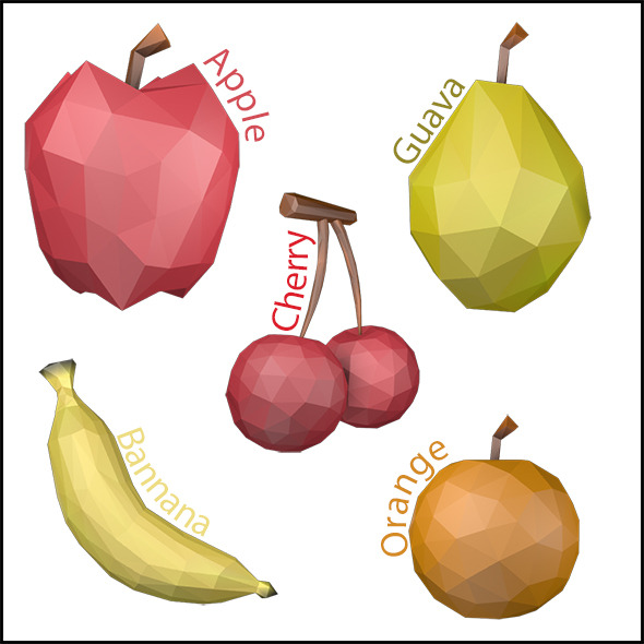 3DOcean Low Poly Fruits 11419168