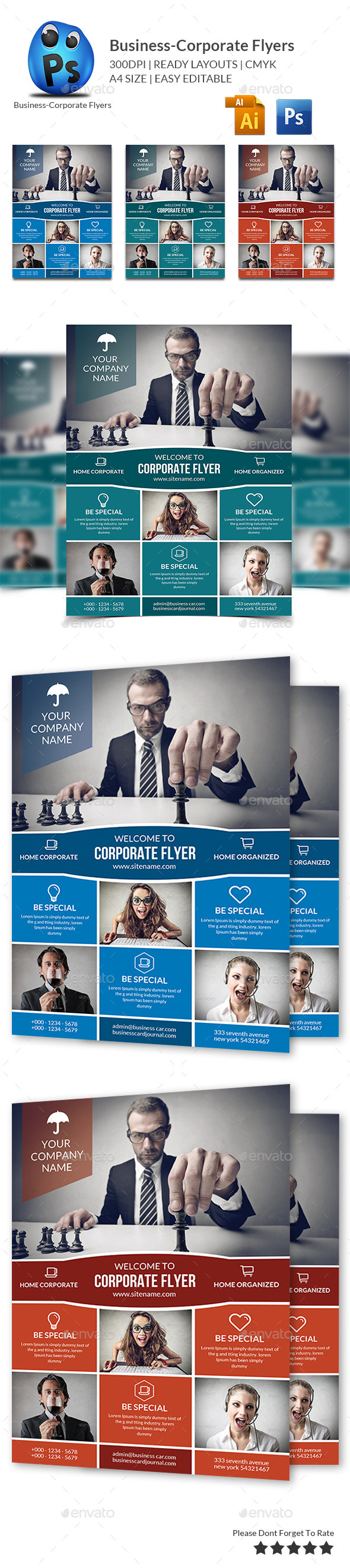 GraphicRiver Multipurpose Business Flyers Templates 11419205