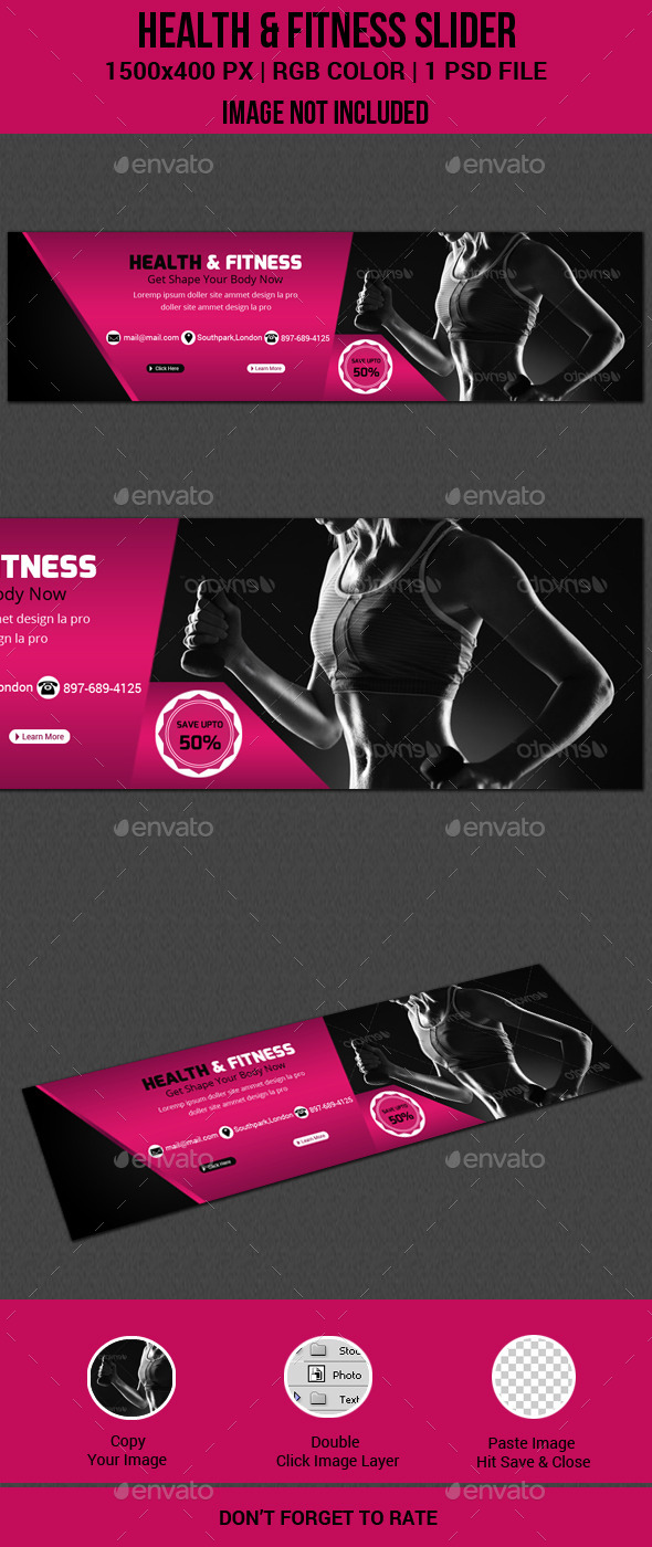 GraphicRiver Health & Fitness Slider 11419312