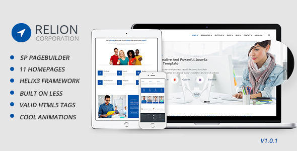 ThemeForest Relion Multi-Purpose Joomla Template 11315679