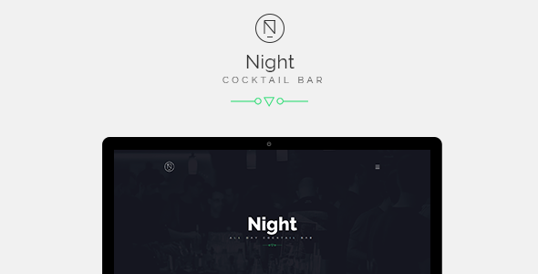 ThemeForest Night Cocktail Bar Cafe Bootstrap Template 11372008