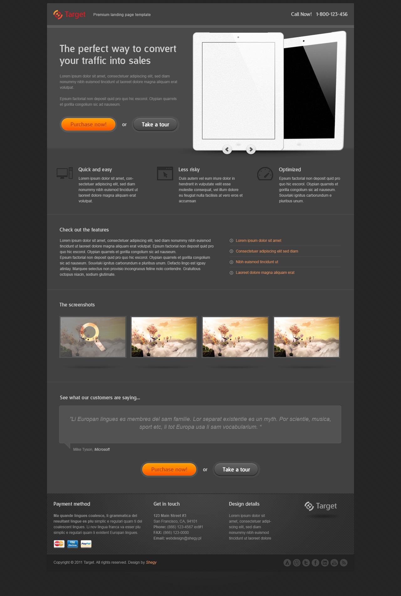 Target - Premium Landing page template