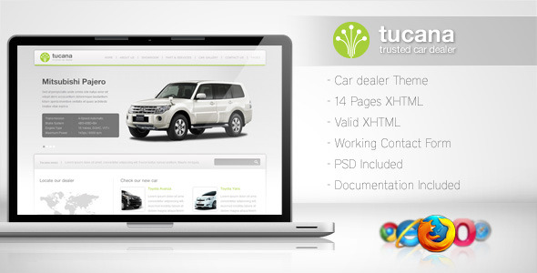 ThemeForest Tucana Cars Dealer Template 140370