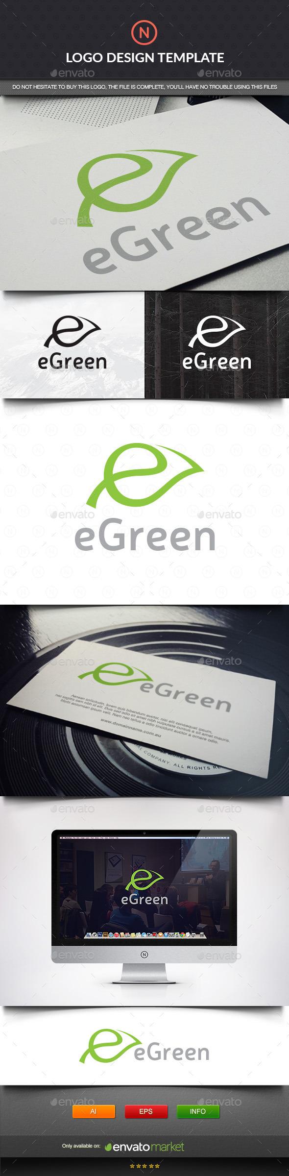 GraphicRiver Leaf Letter E 11420493