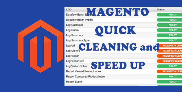 CodeCanyon Magento Quick Log Cleaning and Speed Up 11420603