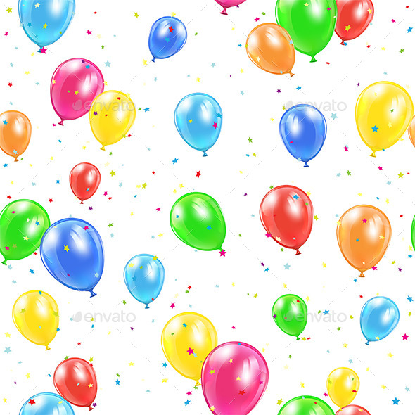 GraphicRiver Seamless Balloons Background 11421206