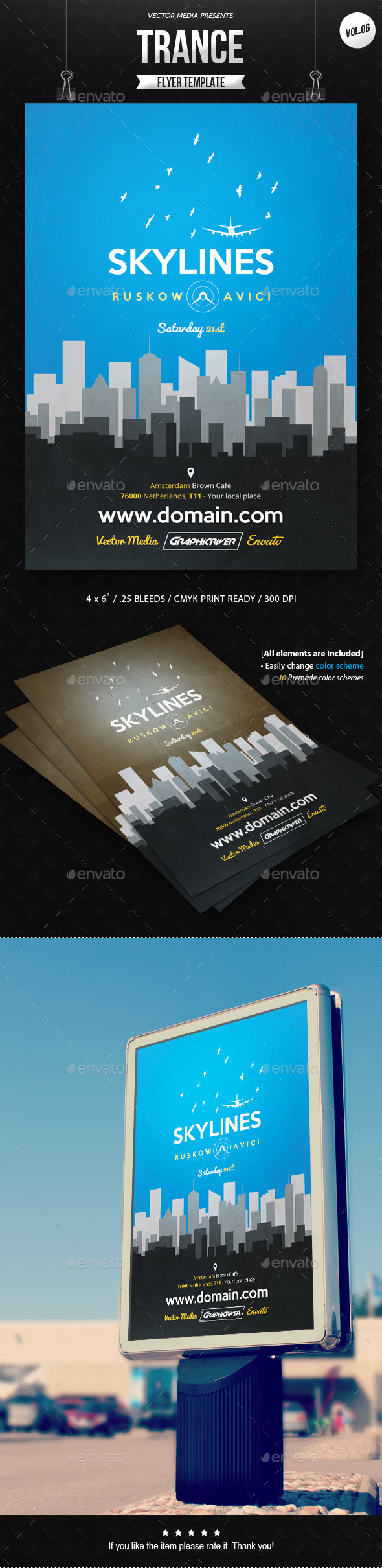 GraphicRiver Trance Flyer [Vol.06] 11421271