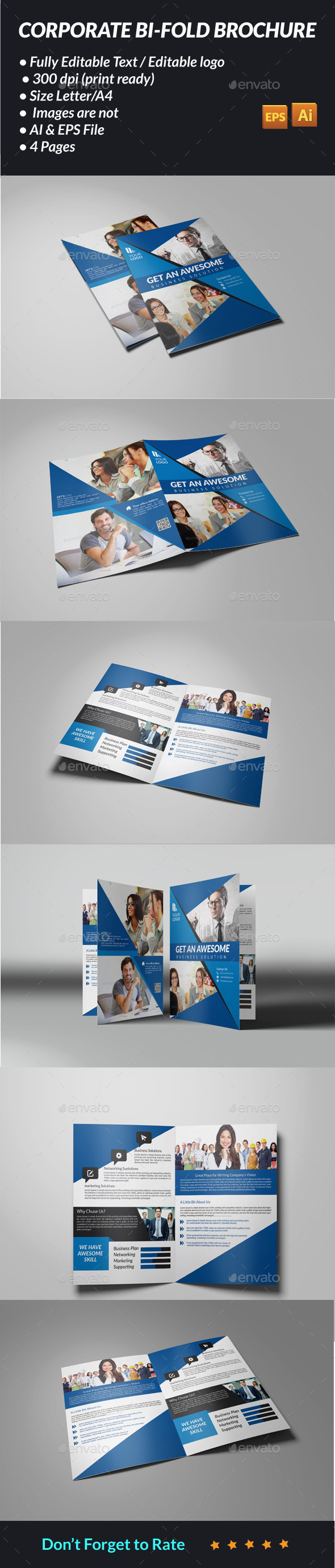 GraphicRiver Corporate Bi-Fold Brochure 11421390