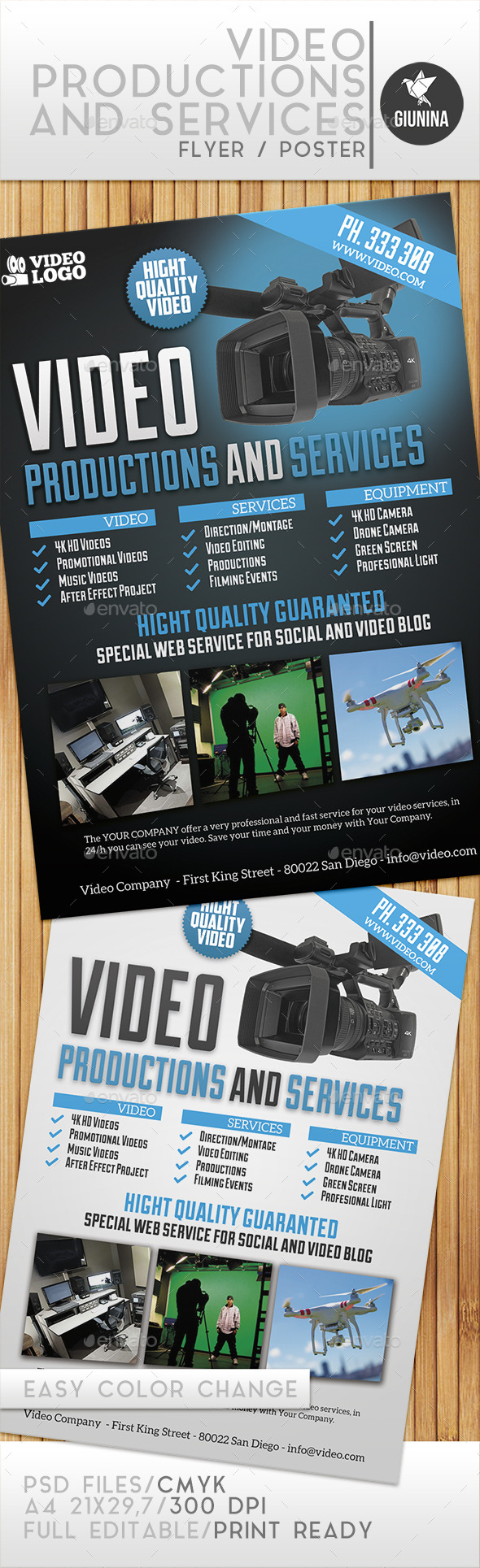 GraphicRiver Video Production And Services Flyer Poster 11421452