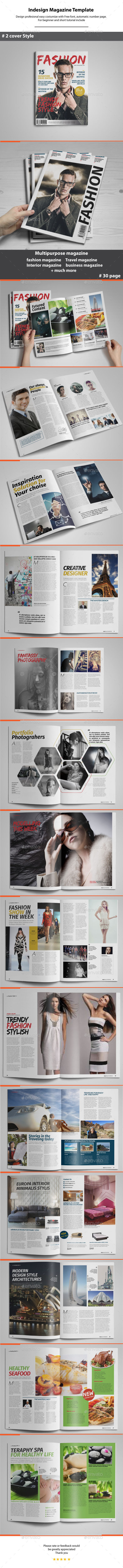 GraphicRiver Indesign Magazine Template 11421618