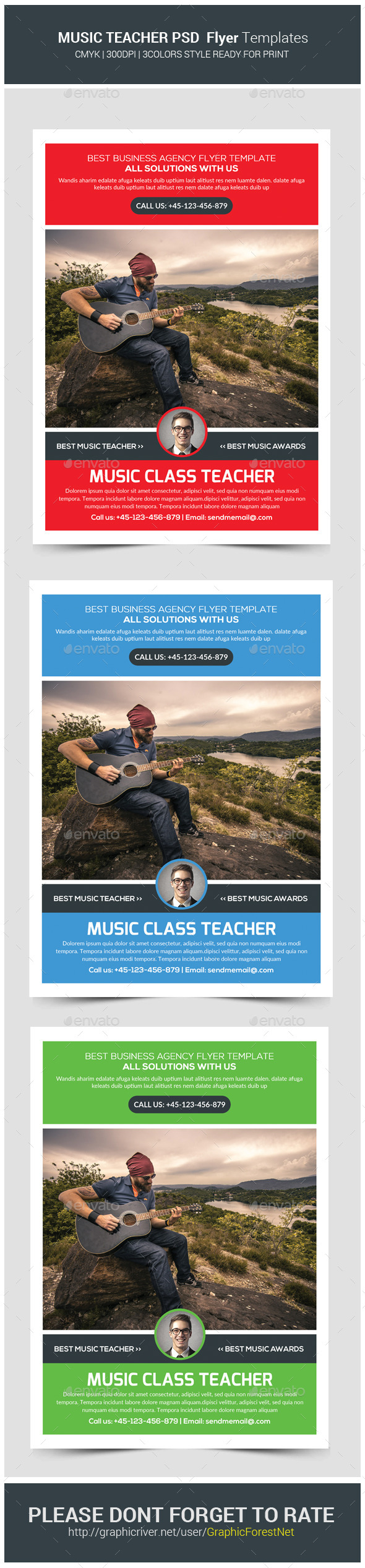 GraphicRiver Music Lessons Flyer Template 11421622